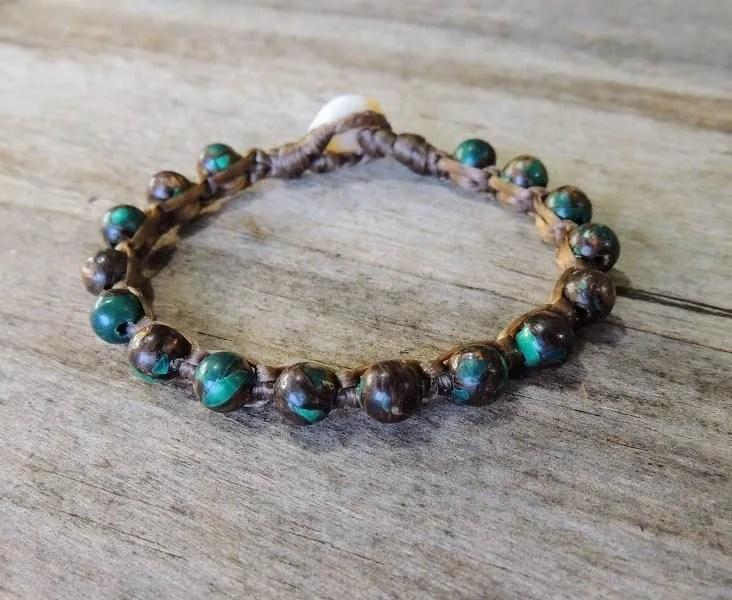 Ocean Tuff Jewelry - Malachite Gemstone Bracelet