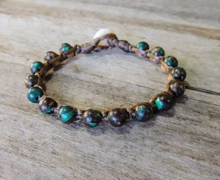 Ocean Tuff Jewelry - Malachite Gemstone Bracelet