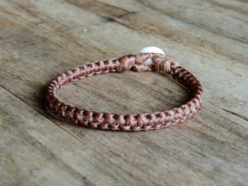 "Ocean Tuff Jewelry - Woven ""Centipede"" Bracelet - Natural"