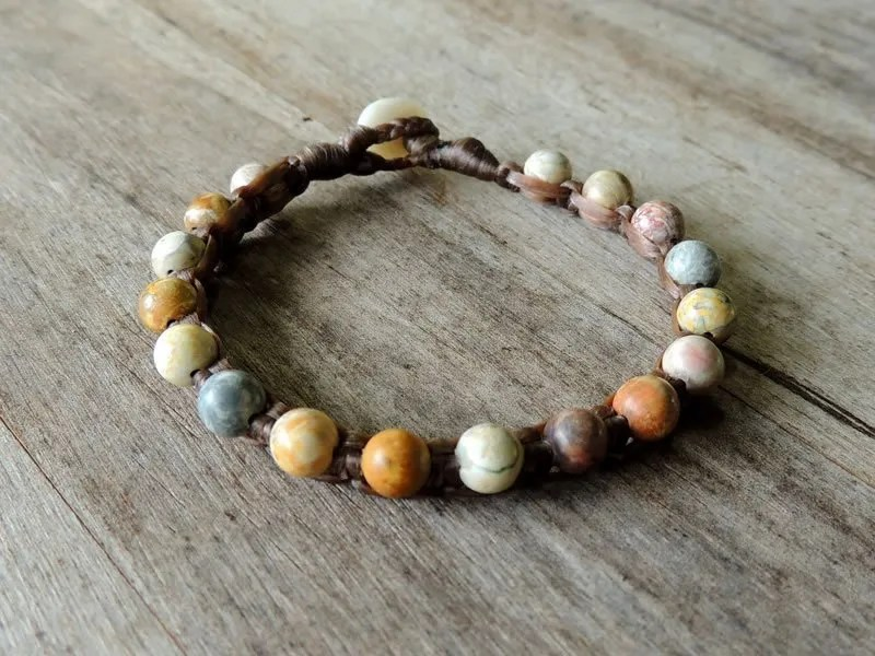 Ocean Tuff Jewelry - Sky Eye Jasper Gemstone Bracelet