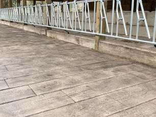 barn wood plank concrete floor