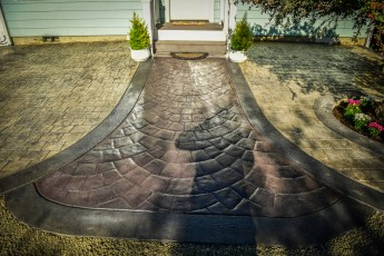 decorative concrete in tillamook