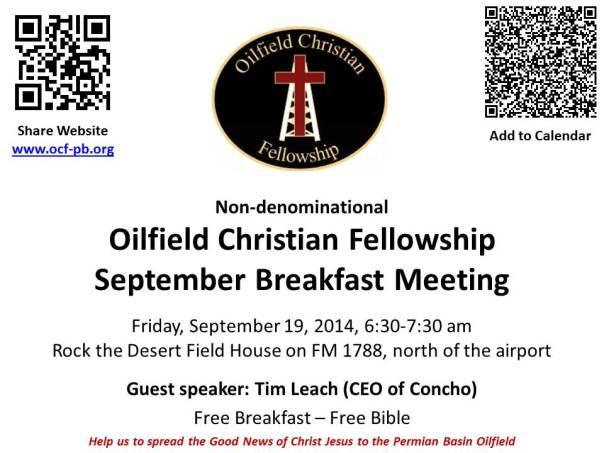 OCF September 19th