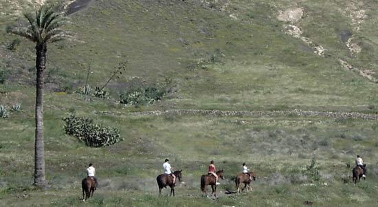 Excursiones a caballo en Lanzarote, alrededores de La Geria, Lanzarote a Caballo, Lanzarote