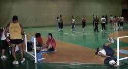 Gimnasia de mantenimiento en la Ciudad Deportiva Lanzarote