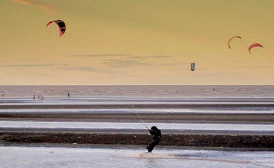 Kite surfing in Lanzarote