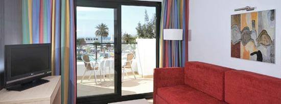 Habitación standar de los apartamentos Lanzarote Bay, complejo de apartamentos de 3 llaves de Costa Teguise