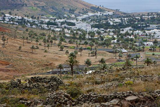 Vistas de Haría desde El Bosquecillo, senderismo en Lanzarote