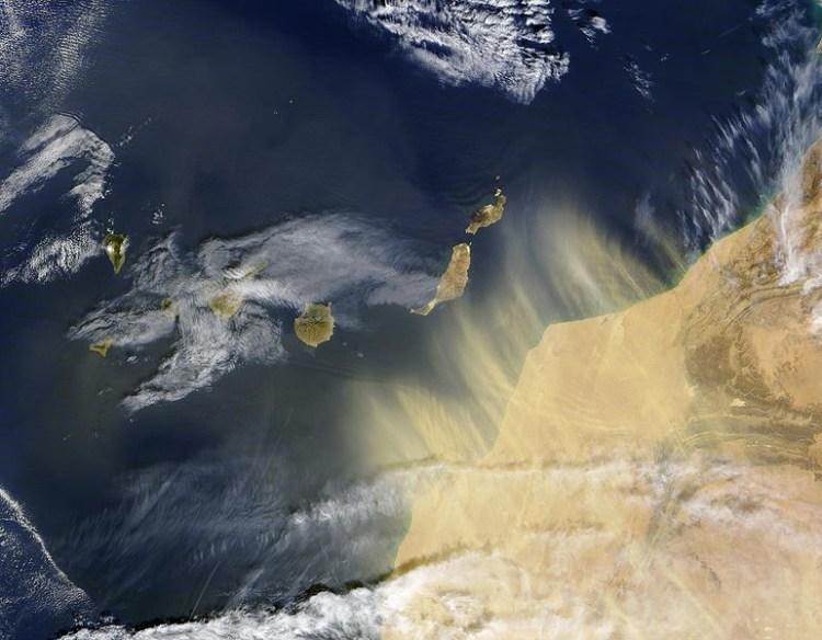 Episodio de calima o siroco en Canarias
