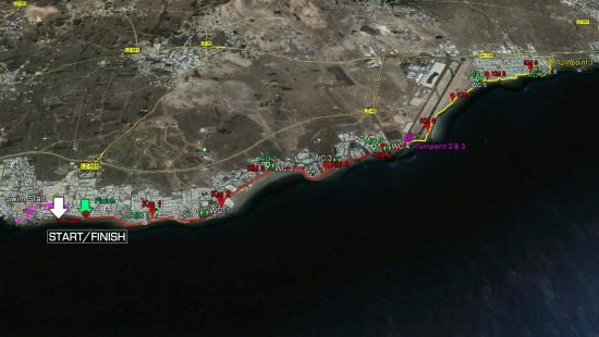 Prueba de carrera a pie del Ironman Lanzarote