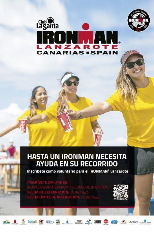 voluntario Ironman Lanzarote 2018