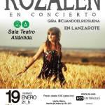 Concierto de Rozalén en Lanzarote (Viernes, 19 de enero)