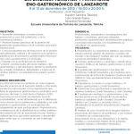 Curso Experiencia turística y patrimonio eno-gastronómico de Lanzarote (Del 09 al 13 de diciembre)
