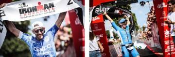 Alessandro de Gasperi y Lucy Gossage, vencedores del Ironman Lanzarote 2018