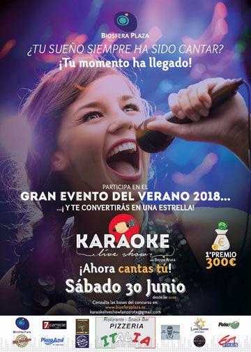 concurso karaoke biosfera plaza