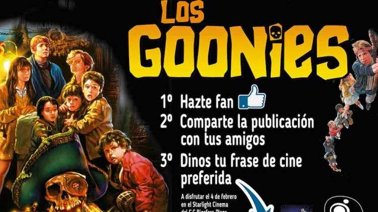 Gana una entrada doble para ver Los Goonies en el C.C. Biosfera (Del 17 al 31 de enero)