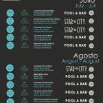 Programa de conciertos y eventos del Arrecife Gran Hotel (Julio y agosto)