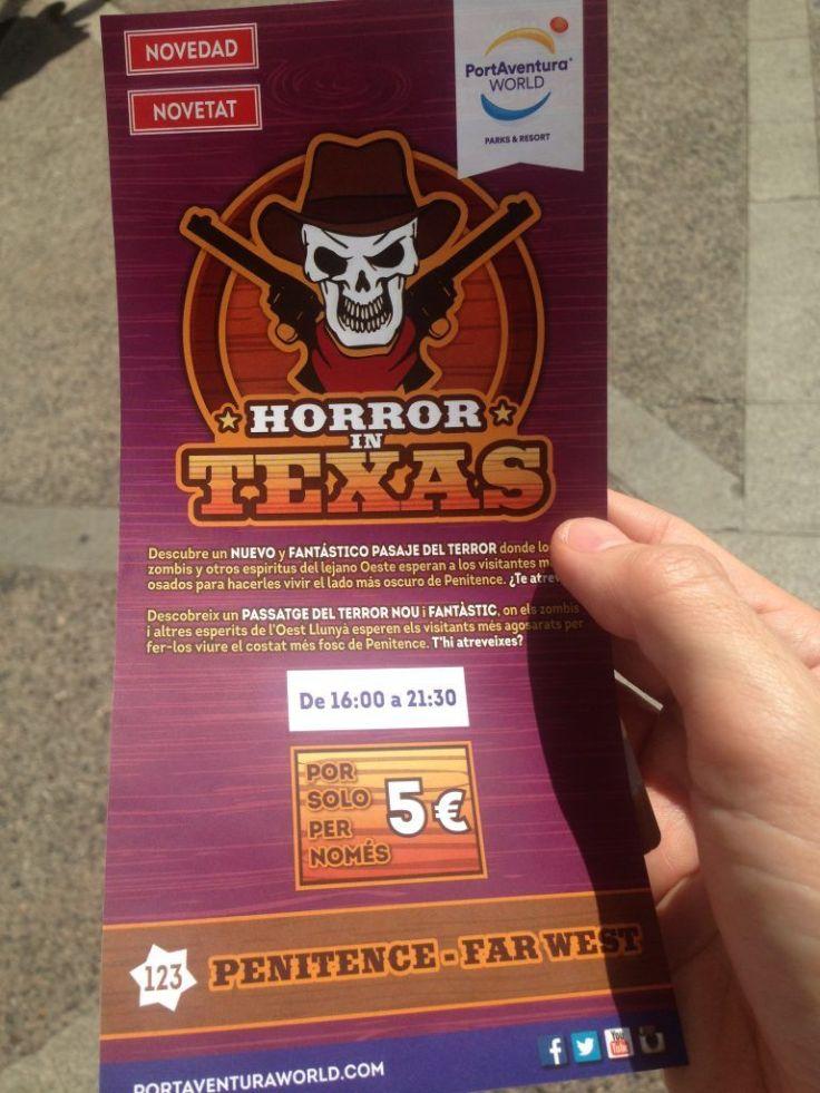 Horror in Texas folleto