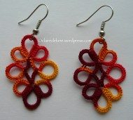 Clover earrings, Claire Perrin