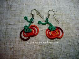 Pumpkin earrings, Penolopy Bulnick
