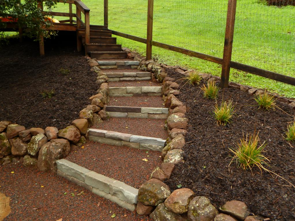 Hillside Project Completed | Turned Earth on Uphill Backyard Landscaping Ideas id=58939