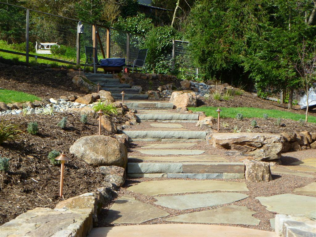 Hillside Project Completed | Turned Earth on Uphill Backyard Ideas  id=58539
