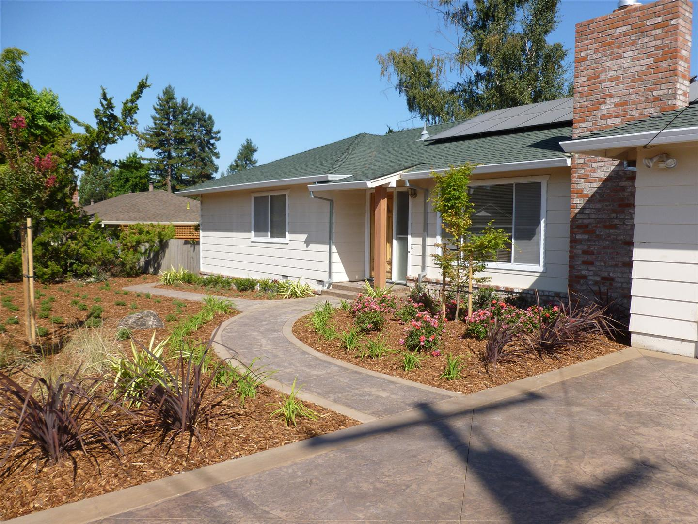 Petaluma Front Yard Makeover | Turned Earth on Concrete Front Yard Ideas id=37555