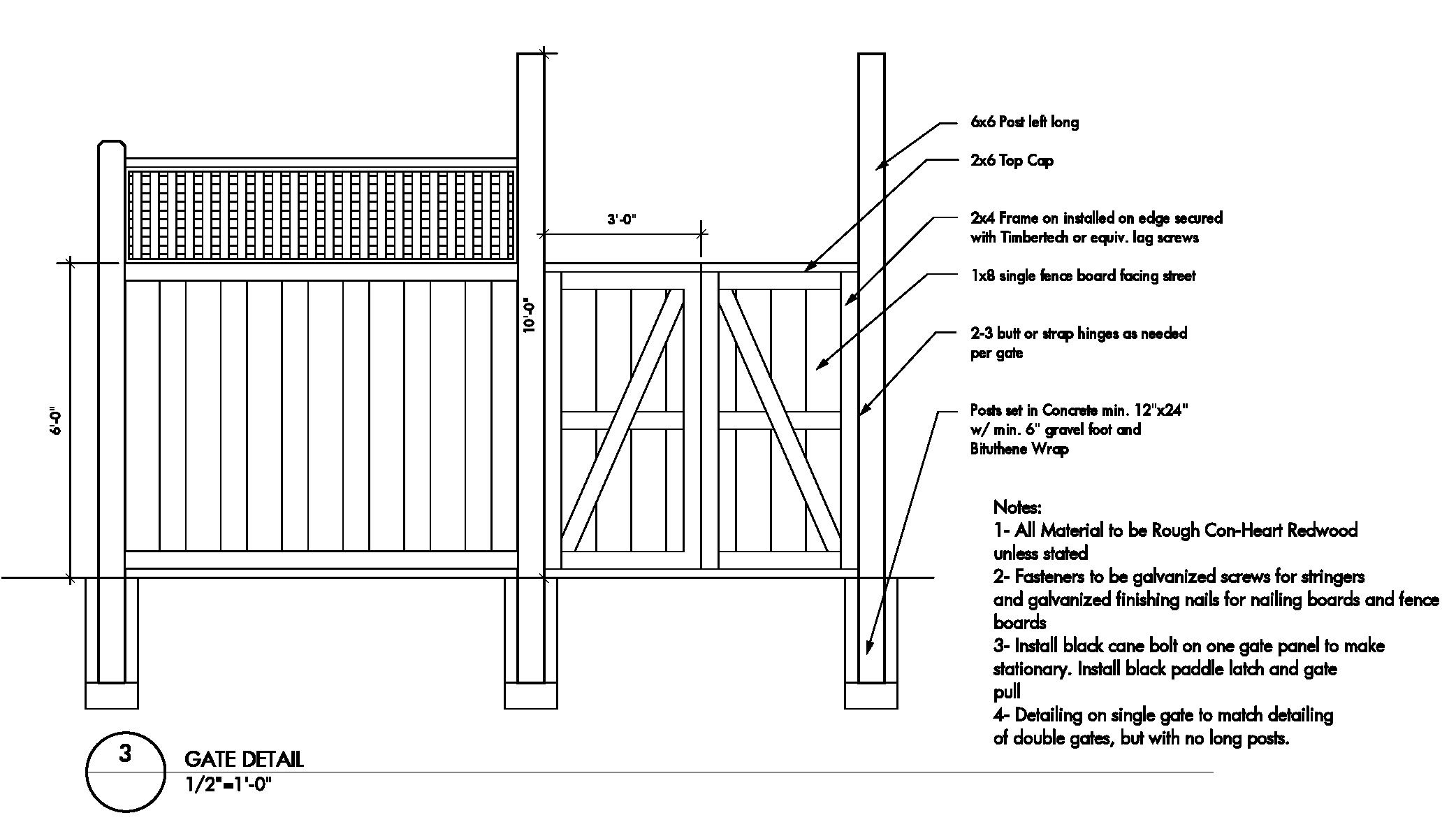 Wood Fence Construction Details Plans Diy Free Download