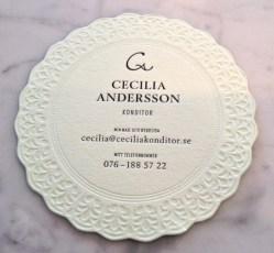 Cecilias visitkort- väldigt sött