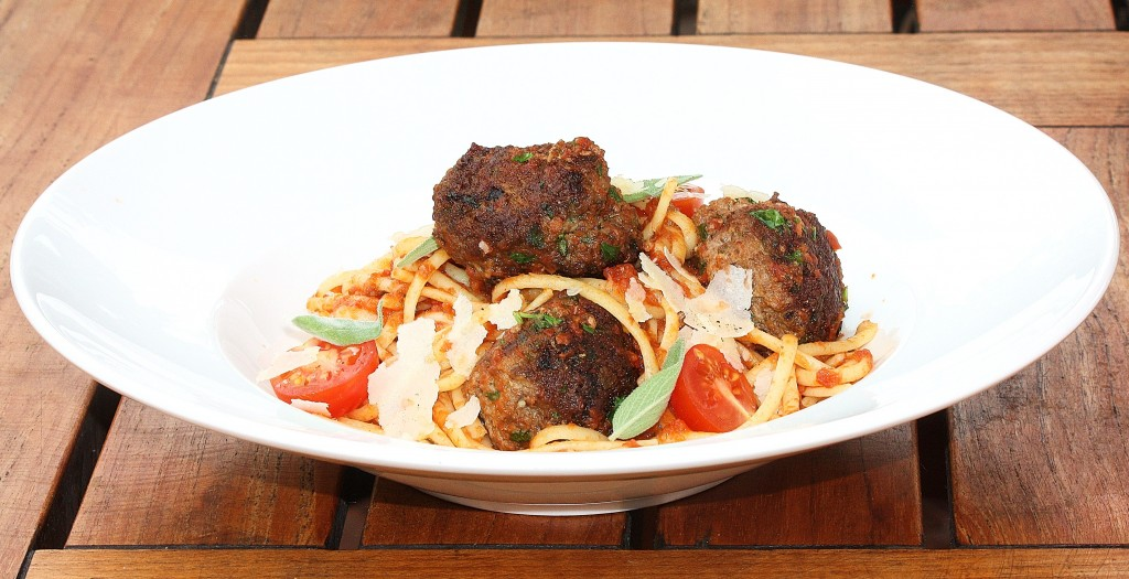 Roman Spaghetti and Meat Balls