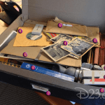 "D23 and The Walt Disney Archives Decipher the Contents of Brad Bird's Mysterious ""Tomorrowland"" Photo"