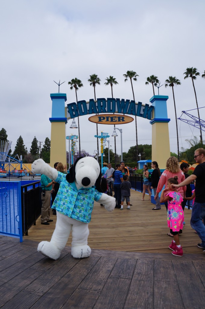 Snoopy dancing at Knott's Berry Farm