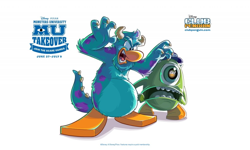 Join the Monsters University Scare Games at Club Penguin