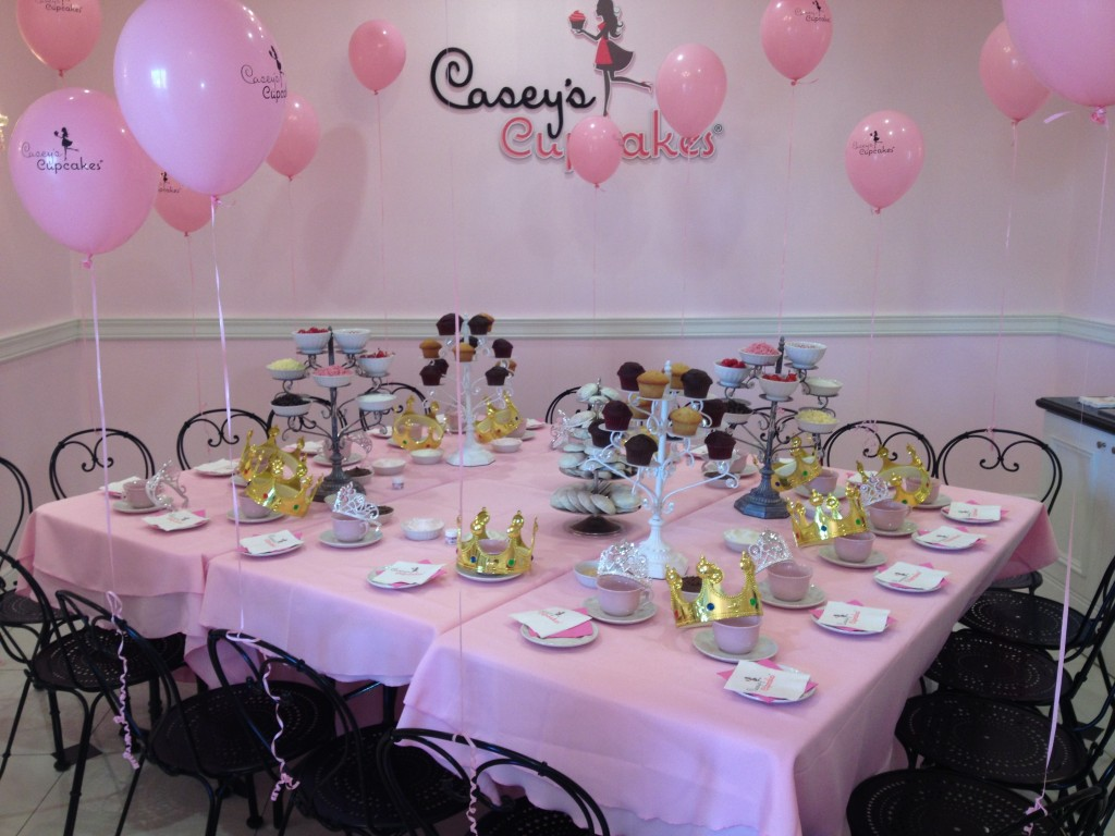 The Party Room at Casey's Cupcakes Woodbury Town Center.