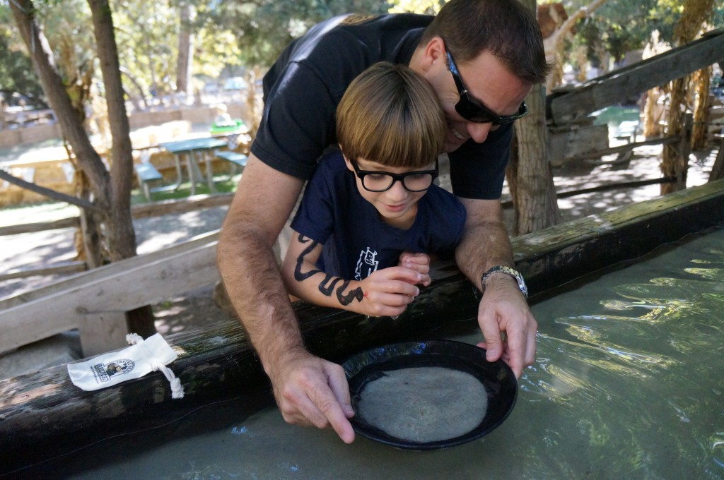 panning for gold with dad
