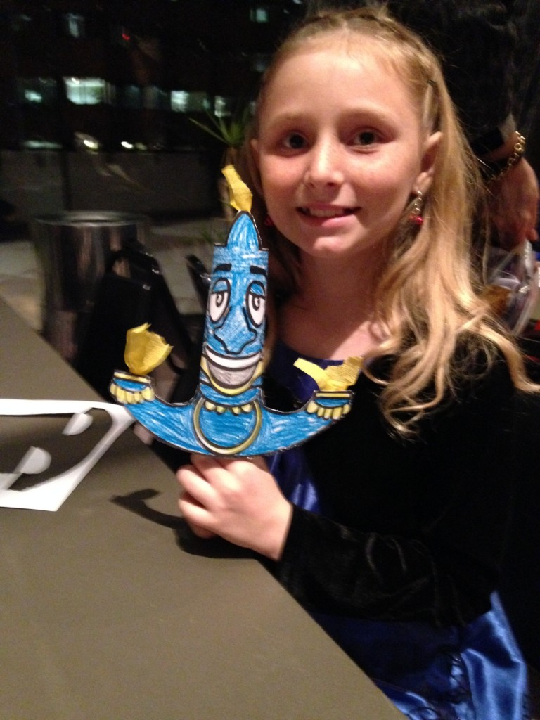My daughter's completed Lumiere puppet
