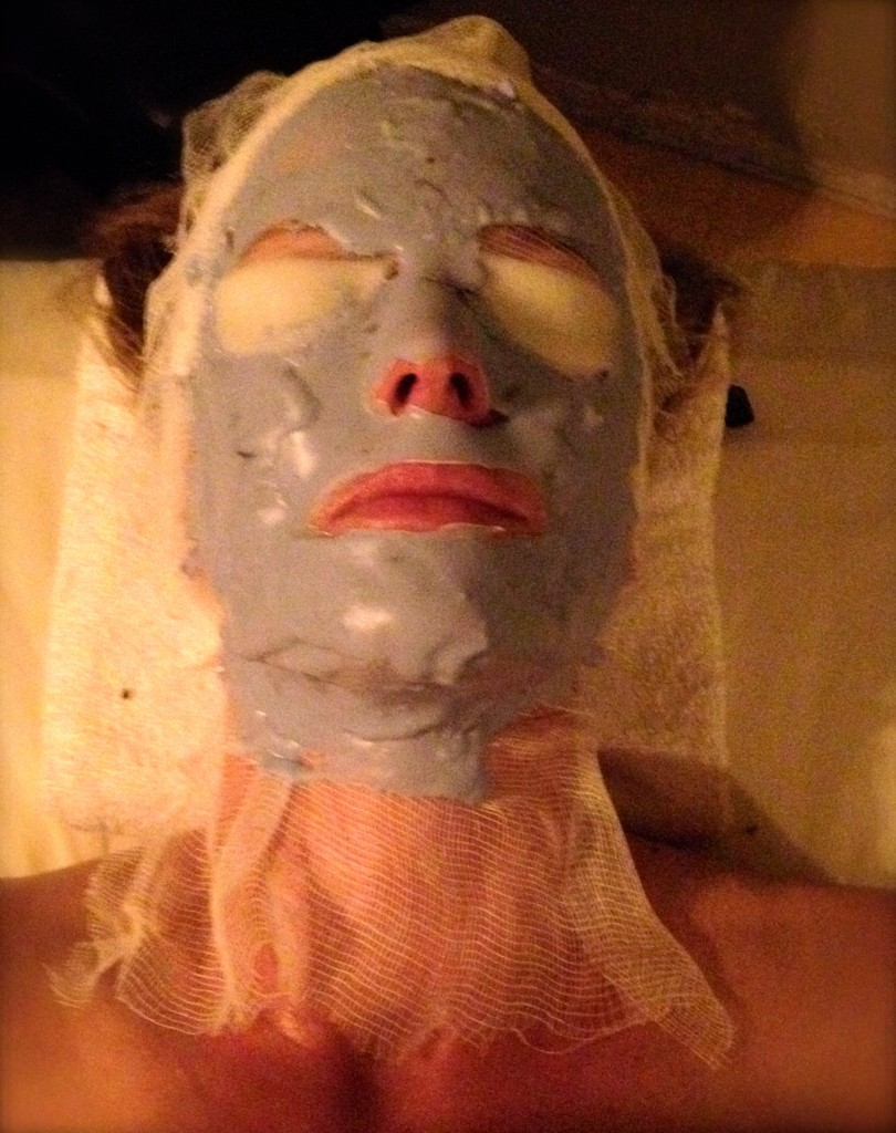 Hydrating with one of three masks.
