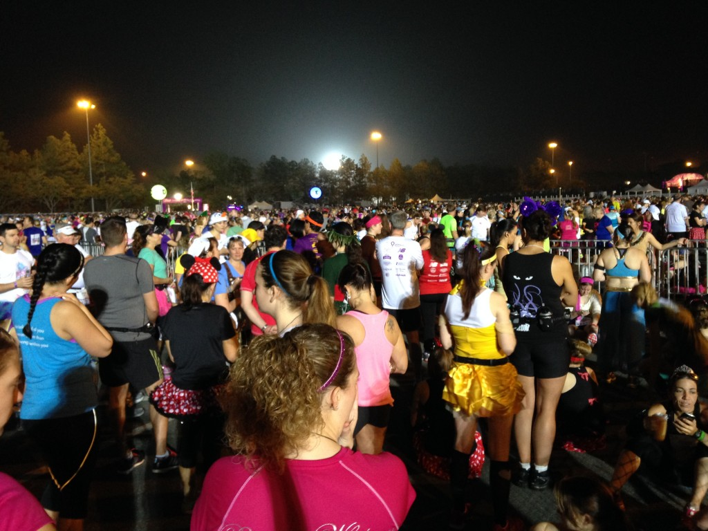 runners waiting for the Enchanted 10K to start