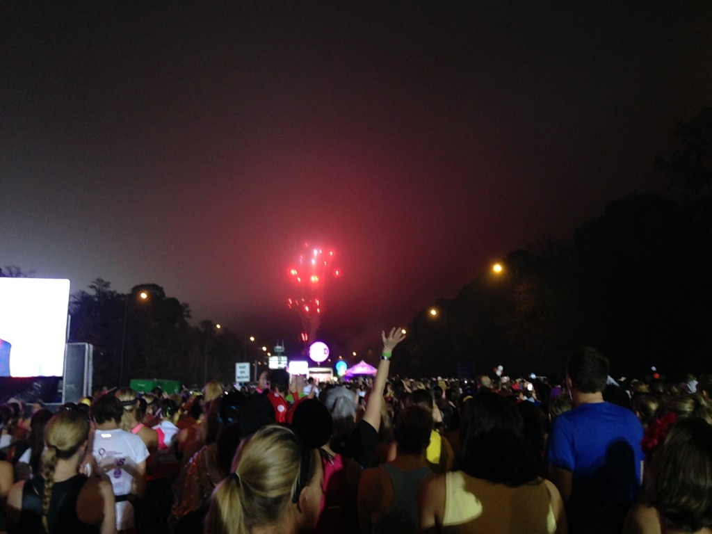 Fireworks to start the race
