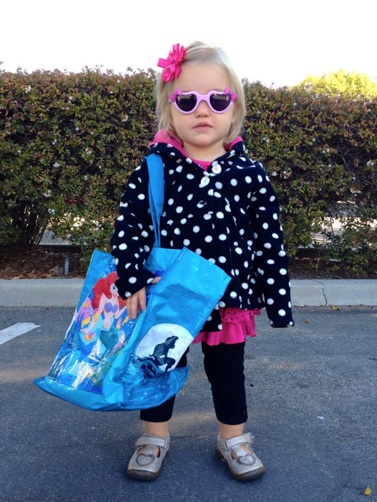 Expert toddler shopper and taste tester at the Laguna Hills Farmer's Market