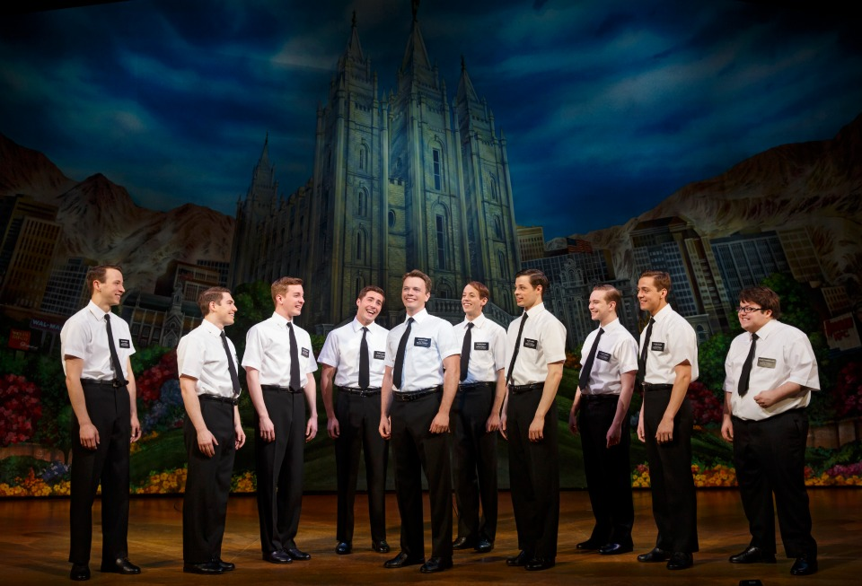 THE BOOK OF MORMON Second National Tour Company. Photo by Joan Marcus, 2014