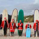 Surfing Santa and Surfboards for Surfers Healing