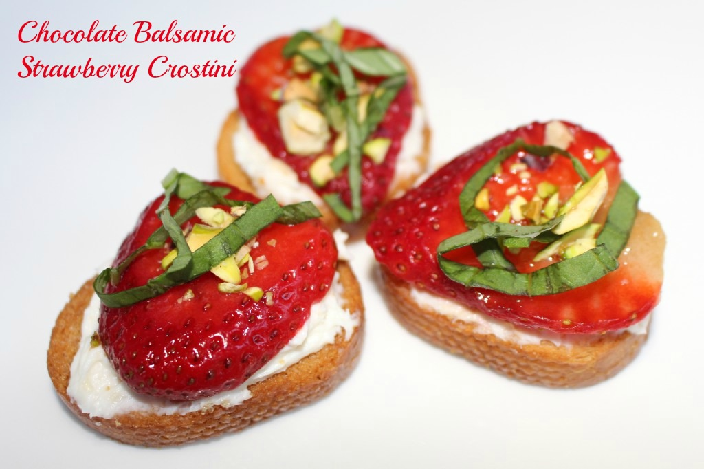 Chocolate Balsamic Strawberry Crostini