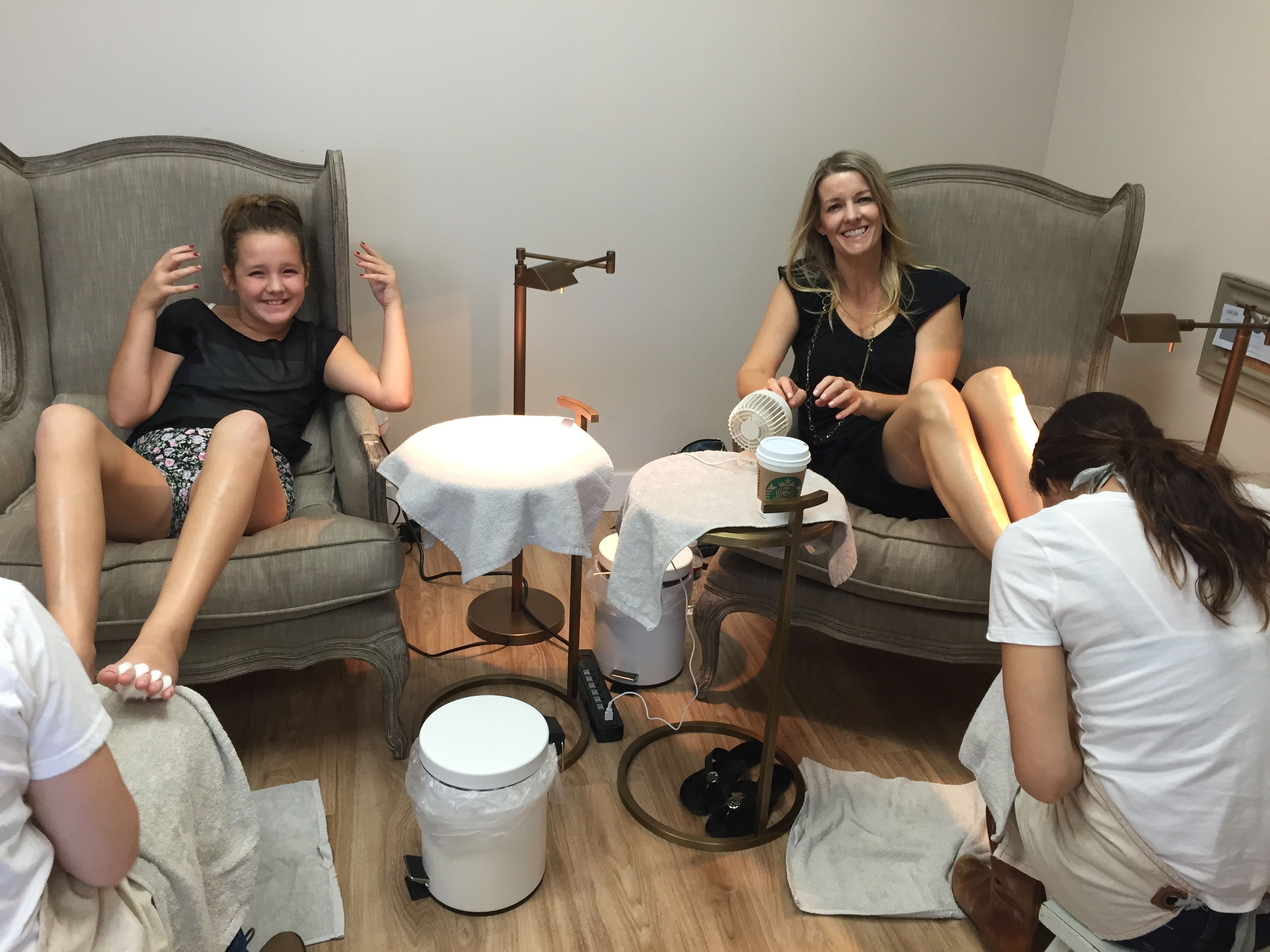 My daugther and I on some healthy mani/pedi date time.