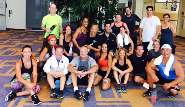 Renaissance Club Sport  Aliso Viejo Boot Camp group following their Friday morning workout.