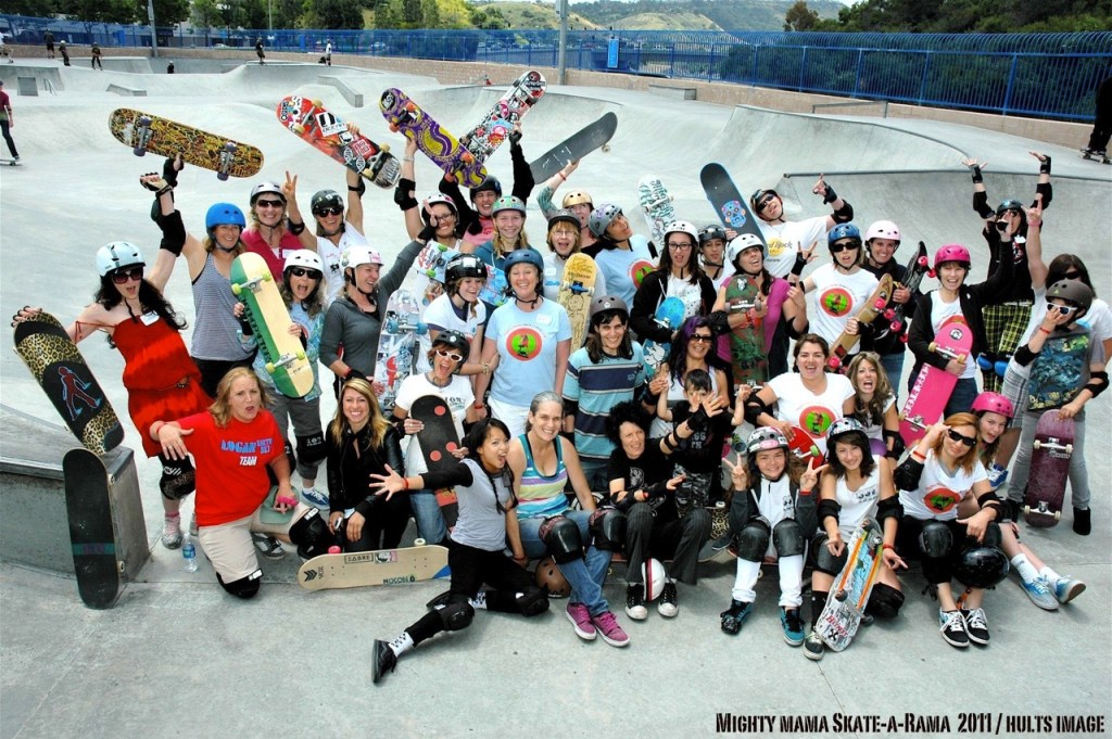 Skateboarding Moms at Skate-O-Rama