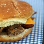 Mouthwatering Cheesy Maple Bacon Pulled Pork Sandwiches
