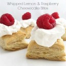 Whipped Lemon and Raspberry Cheesecake Bites