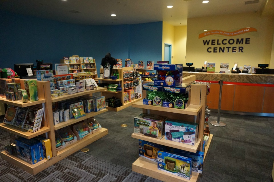 Welcome Center at Discovery Cube OC #DiscoveryCubeMoms #DiscoveryCubeOC