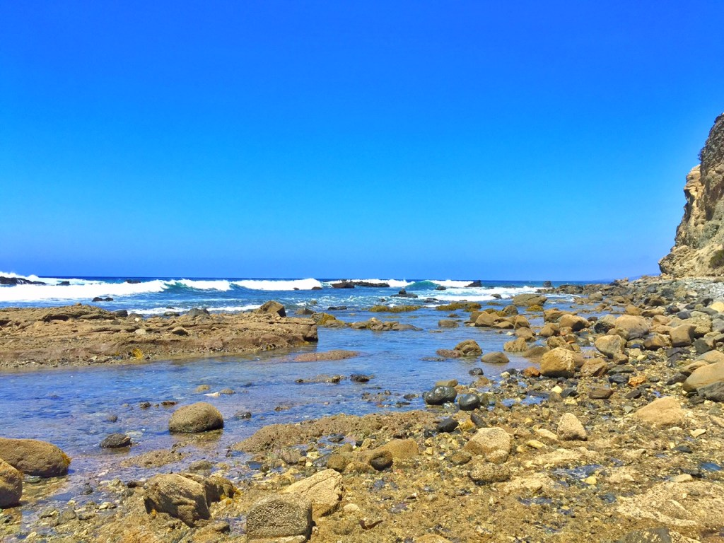 Rocks and waves in Dana Point